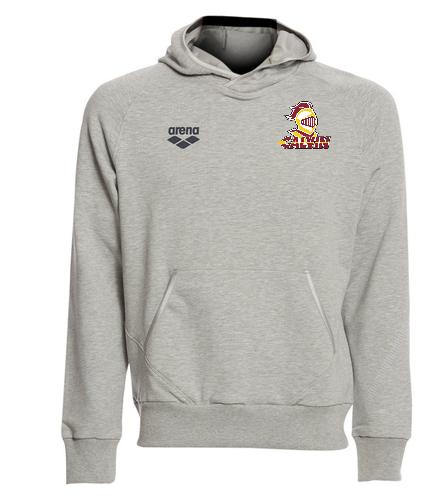 Calvin Grey Pullover Hoody - Arena Unisex Team Line Stretch Fleece Pullover Hoodie