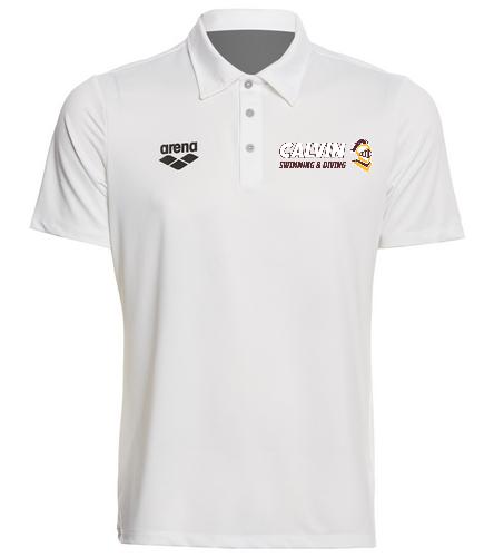 Calvin Polo White - Arena Unisex Team Line Tech Short Sleeve Polo