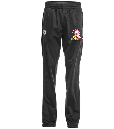 Calvin Men's Black Pant - Arena Unisex Team Line Knitted Poly Pant