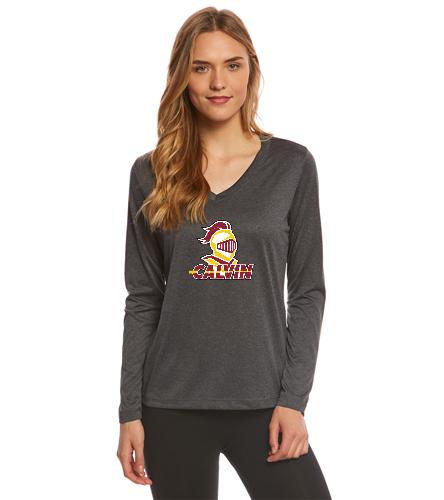 Calvin Women's LS Shirt - SwimOutlet Women's Long Sleeve Tech T Shirt