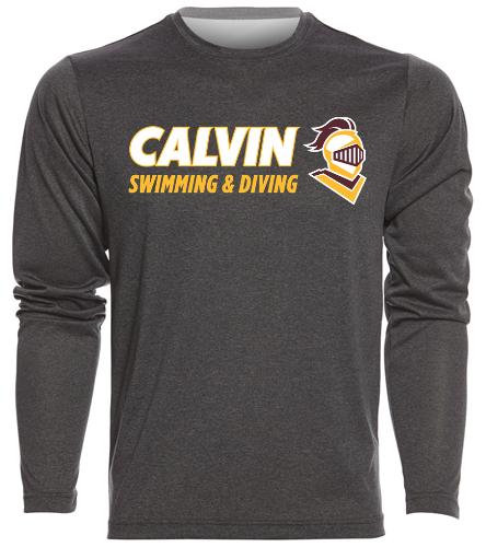 Calvin Long T Grey/Gold - SwimOutlet Men's Long Sleeve Tech T Shirt