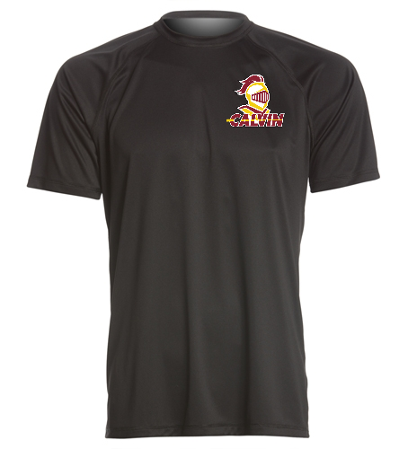 Calvin Men's Black Tee - Sporti Men's Solid S/S UPF 50+ Sun Shirt