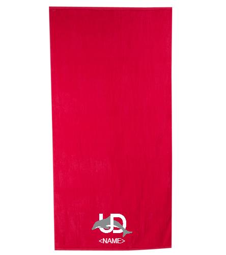 UD Team Towel - Royal Comfort Terry Velour Beach Towel 32 X 64