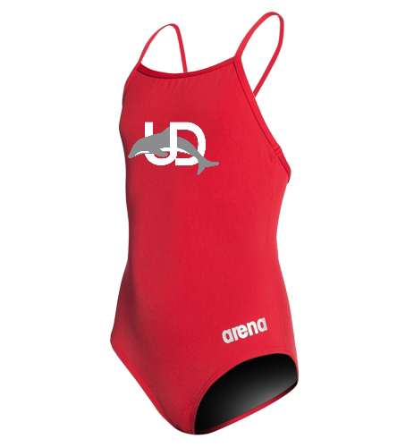UD Logo Arena Girls' Thin Strap Suit - Arena Girls' Master MaxLife Thin Strap Micro Back One Piece Swimsuit