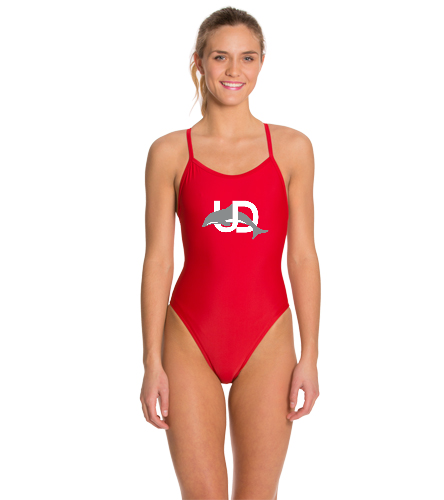 UD Logo Swimsuit (thin strap) - iSwim Essential Solid Thin Strap One Piece Swimsuit