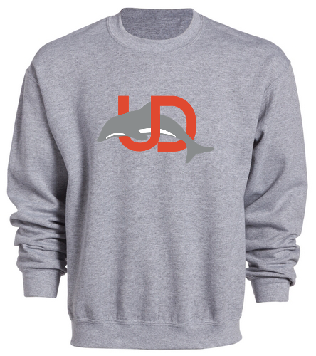 UD Logo Gray Crewneck - SwimOutlet Heavy Blend Unisex Adult Crewneck Sweatshirt
