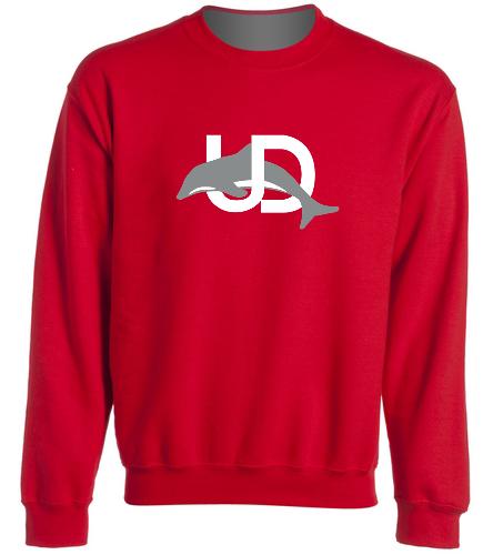 UD Logo Red Crewneck - SwimOutlet Heavy Blend Unisex Adult Crewneck Sweatshirt