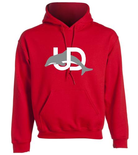 UD Logo Red Adult Hoodie - SwimOutlet Heavy Blend Unisex Adult Hooded Sweatshirt