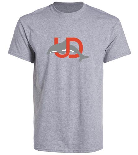 UD Logo Gray Adult tee - SwimOutlet Unisex Cotton Crew Neck T-Shirt