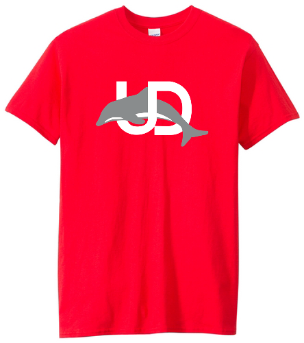UD Logo Red Adult tee - SwimOutlet Unisex Cotton Crew Neck T-Shirt