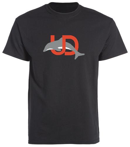 UD Logo Black Adult tee - SwimOutlet Unisex Cotton Crew Neck T-Shirt