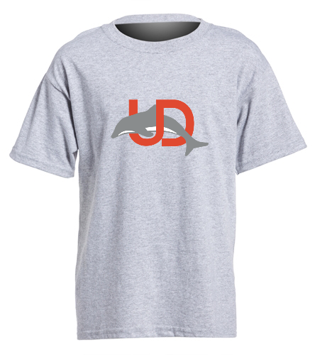 UD Logo Gray Youth tee - SwimOutlet Youth Cotton Crew Neck T-Shirt