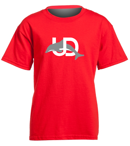 UD Logo Red Youth tee - SwimOutlet Youth Cotton Crew Neck T-Shirt