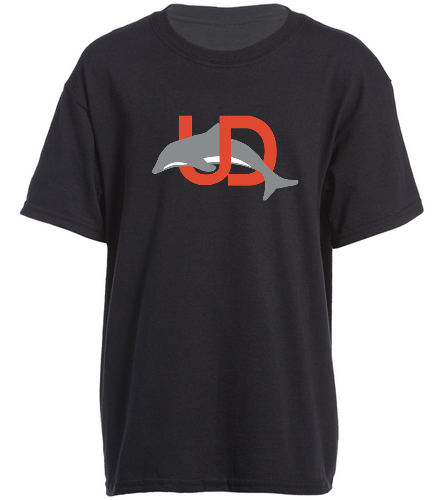 UD Logo Black Youth tee - SwimOutlet Youth Cotton Crew Neck T-Shirt