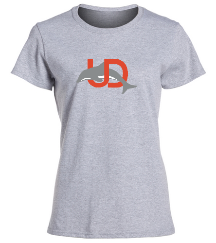 UD Logo Gray Ladies tee - SwimOutlet Women's Cotton Missy Fit T-Shirt