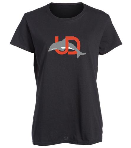 UD Logo Black Ladies tee - SwimOutlet Women's Cotton Missy Fit T-Shirt