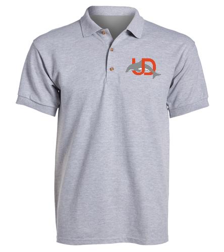 UD Logo Adult Polo - gray - SwimOutlet Ultra Cotton Adult Men's Pique Sport Shirt
