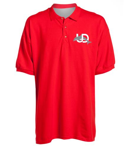 UD Logo Adult Polo - red - SwimOutlet Ultra Cotton Adult Men's Pique Sport Shirt