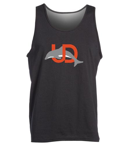 UD Logo Adult Tank - black - SwimOutlet Men's Cotton Tank Top