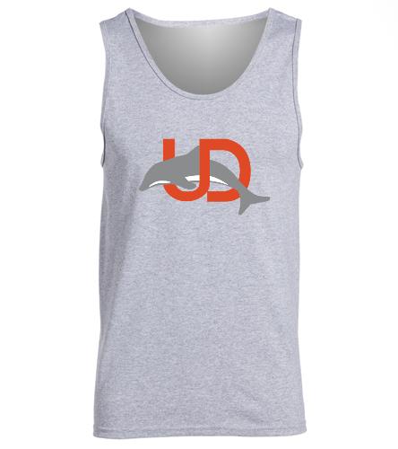 UD Logo Adult Tank - gray - SwimOutlet Men's Cotton Tank Top