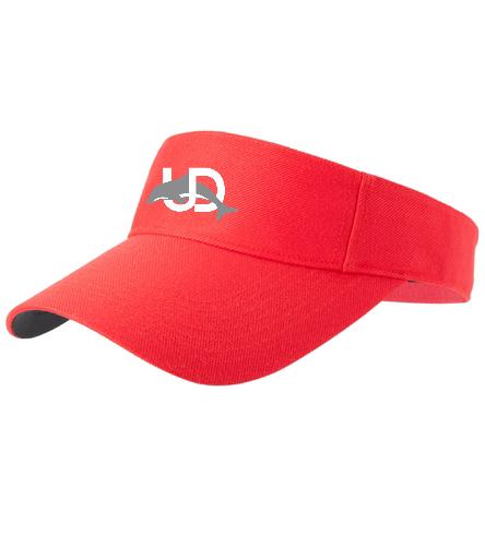 UD Logo Visor - SwimOutlet Custom Cotton Twill Visor