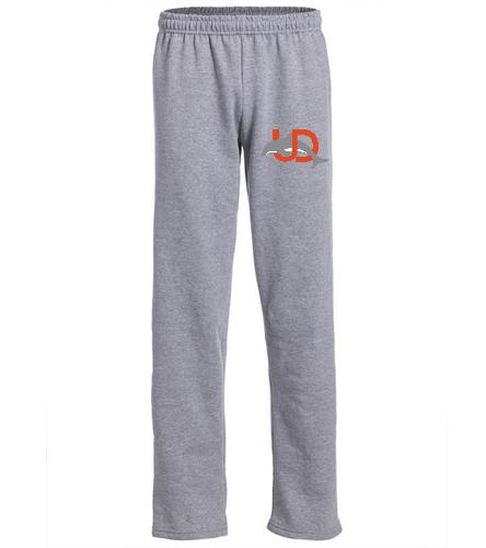 UD Logo Adult Sweatpants - gray - SwimOutlet Heavy Blend Unisex Adult Open Bottom Sweatpants