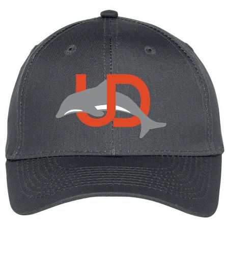UD Logo Baseball Cap - grey - SwimOutlet Unisex Performance Twill Cap