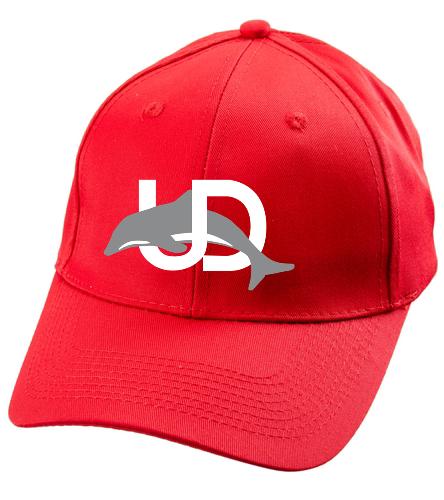 UD Logo Baseball Cap - red - SwimOutlet Unisex Performance Twill Cap