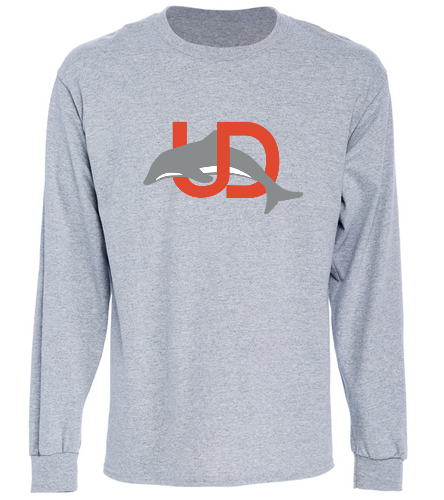 UD Logo Gray Long Sleeve tee - SwimOutlet Cotton Unisex Long Sleeve T-Shirt
