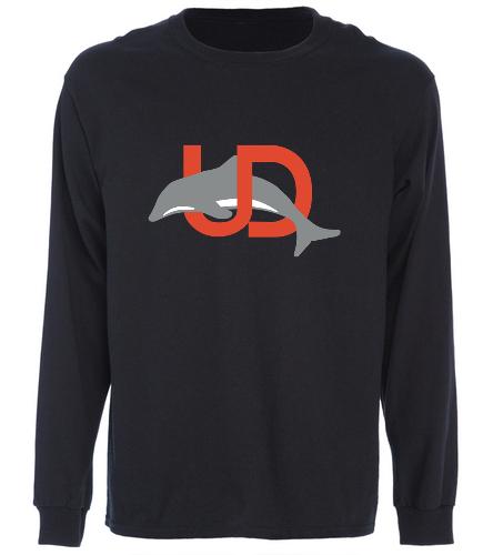 UD Logo Black Long Sleeve tee - SwimOutlet Cotton Unisex Long Sleeve T-Shirt