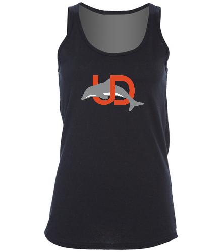 UD Logo Ladies Tank - black - SwimOutlet Women's Cotton Racerback Tank Top