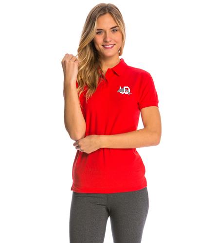 UD Logo Women's Polo - red - SwimOutlet Women's Pique Polo