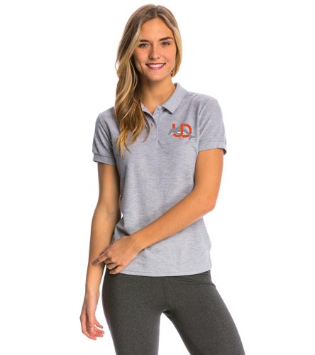 UD Logo Women's Polo - gray - SwimOutlet Women's Pique Polo