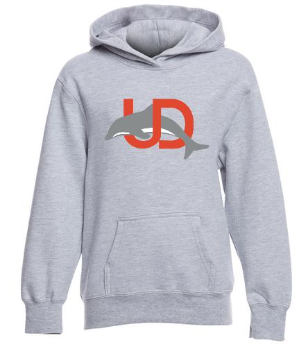 Gray Youth UD Logo Pullover - SwimOutlet Youth Fan Favorite Fleece Pullover Hooded Sweatshirt