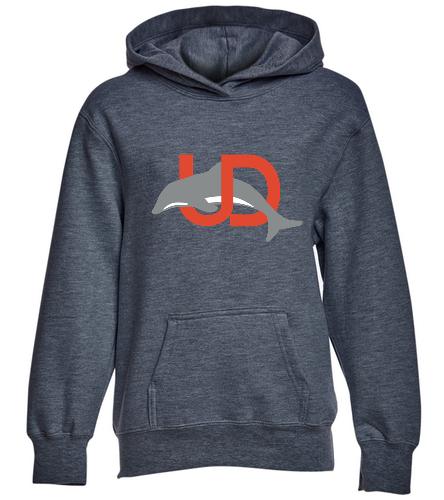 Youth Dark Grey UD Logo Pullover - SwimOutlet Youth Fan Favorite Fleece Pullover Hooded Sweatshirt