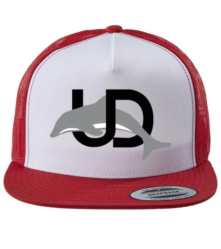UD Logo Trucker Hat Red - Swimoutlet Classic Mesh Trucker Hat