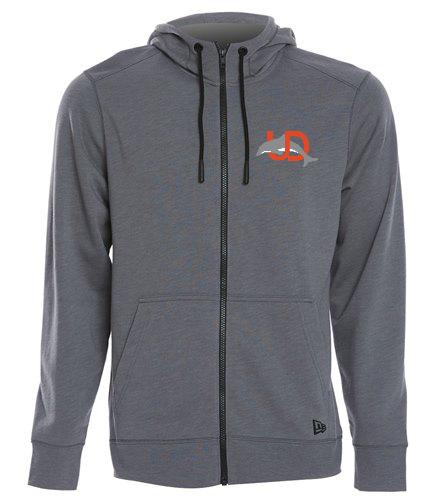 UD Logo Adult Fleece Hoodie - SwimOutlet New Era® Tri-Blend Fleece Full-Zip Hoodie