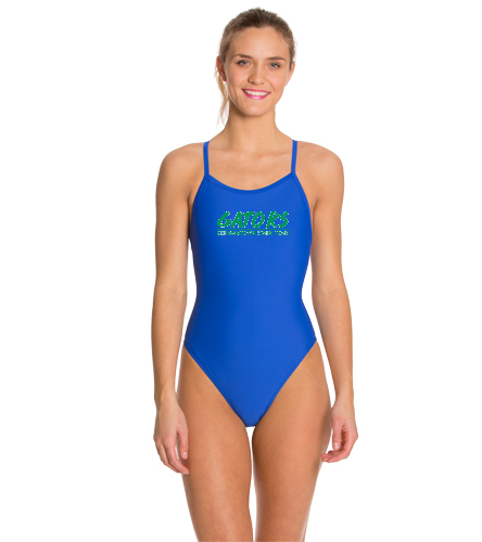 Thin Strap - iSwim Essential Solid Thin Strap One Piece Swimsuit
