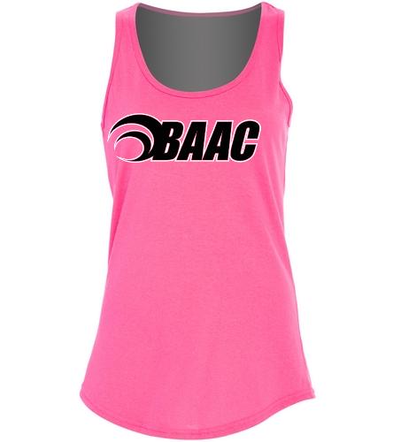 Ladies Pink BAAC Tank - SwimOutlet Women's Cotton Tank Top - Brights