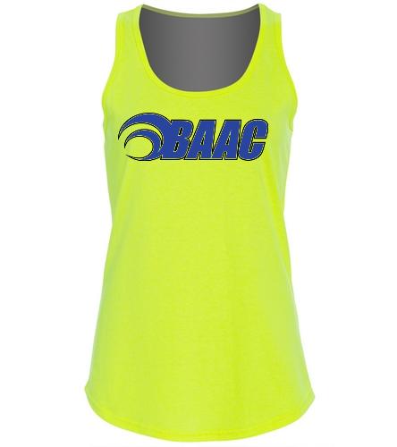 Ladies Neon Yellow Tank - SwimOutlet Women's Cotton Tank Top - Brights