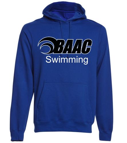 Adult Hoodie BAAC Logo - SwimOutlet Adult Fan Favorite Fleece Pullover Hooded Sweatshirt