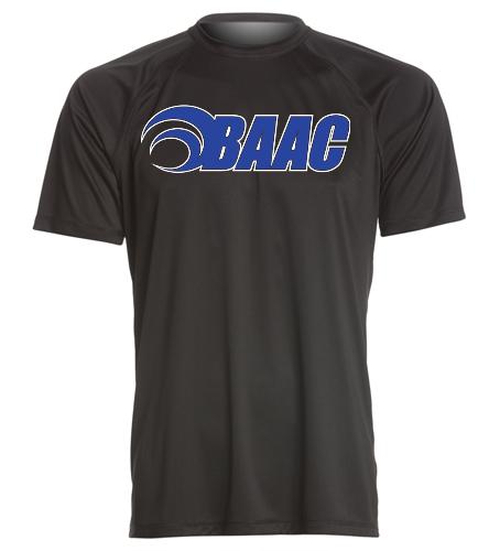 Men's Black Tech Tee - Sporti Men's Solid S/S UPF 50+ Sun Shirt