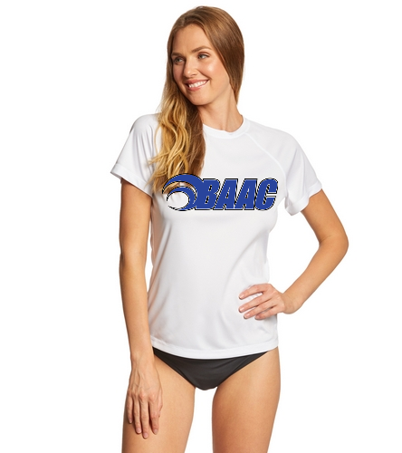 Women's White Tech Tee - Sporti Women's Solid S/S UPF 50+ Sun Shirt