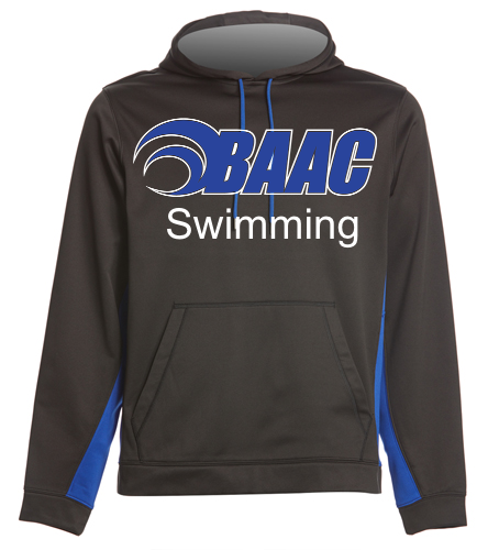 Black & Blue BAAC Hoodie - SwimOutlet Sport-Wick® Fleece Colorblock Hooded Pullover