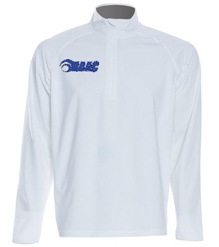 Half-Zip White - SwimOutlet Sport-Tek®Sport-Wick® Stretch 1/2-Zip Pullover
