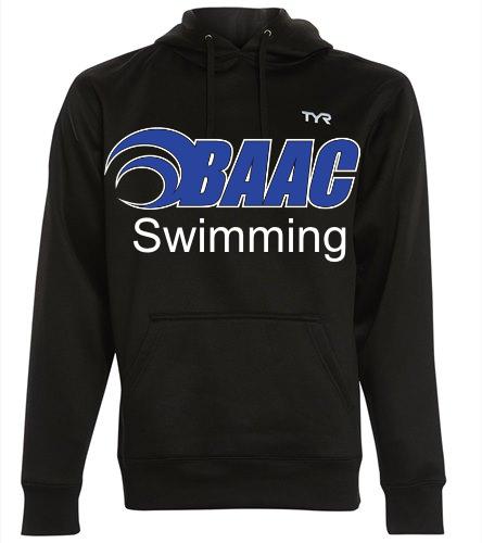 TYR Black Hoodie BAAC Swimming - TYR Men's Alliance Pullover Hoodie