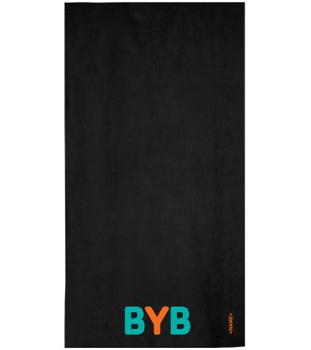 Towel-BYB-Large - Royal Comfort Terry Velour Beach Towel 32 X 64