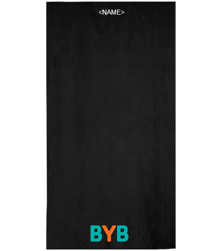 Personalized towel-BYB - Royal Comfort Terry Velour Beach Towel 32 X 64