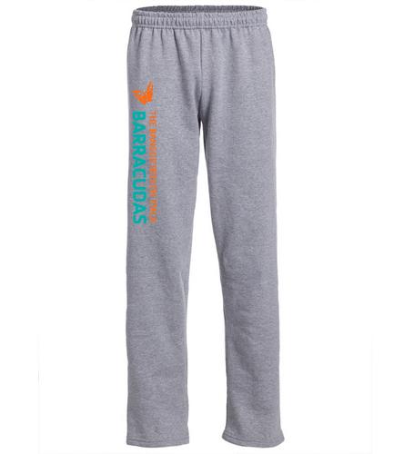 sweatpants-leg-logo - SwimOutlet Heavy Blend Unisex Adult Open Bottom Sweatpants