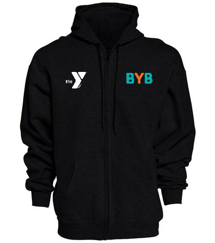 BYB-Y_logo - SwimOutlet Unisex Adult Full Zip Hoodie